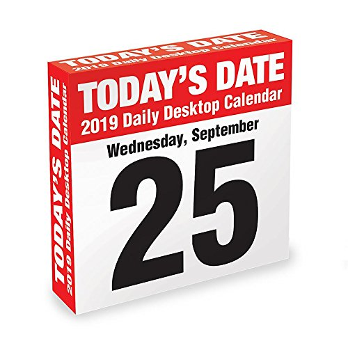 (2019 Todays Date Daily Desk Calendar, by TF Publishing)