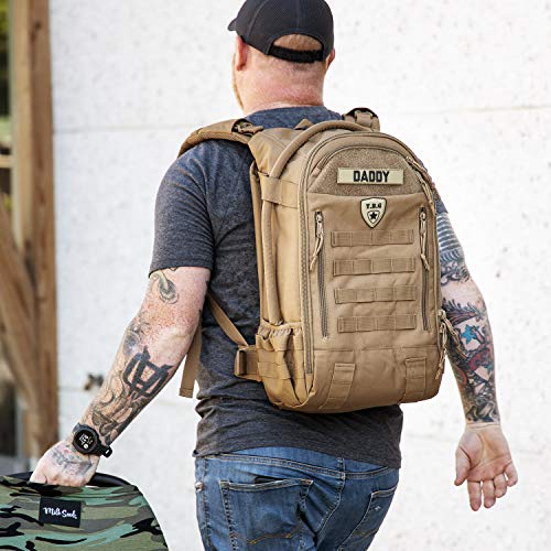 Tactical Baby Gear Daypack 3.0 Tactical Diaper Bag Backpack and Changing Mat (Coyote Brown)