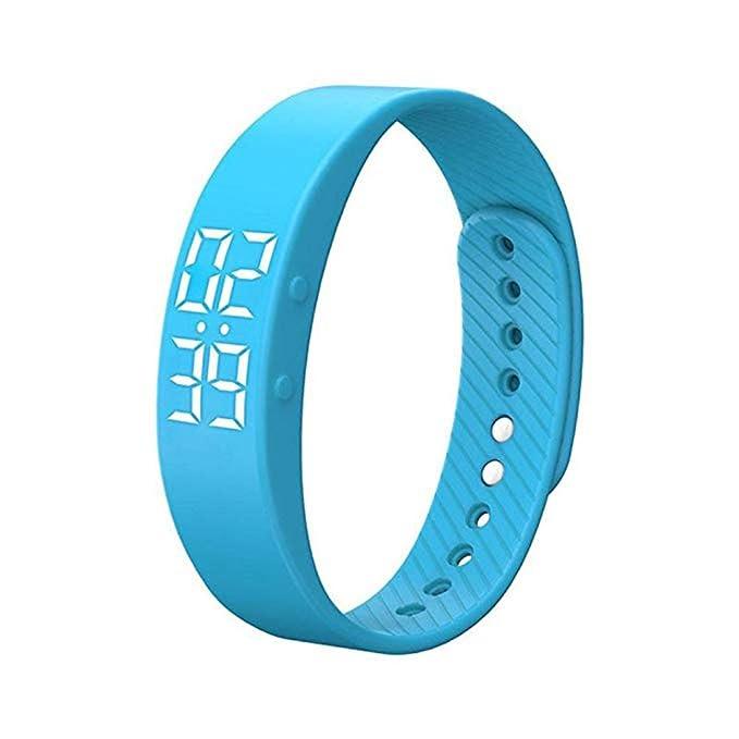 Zhongke Smart Watch Reloj digital Pulsera inteligente Monitoreo de salud, conteo por pasos, seguimiento