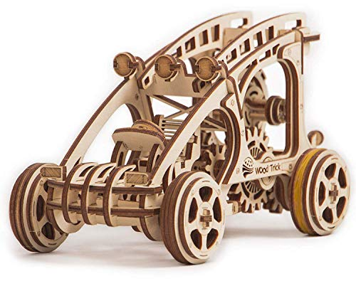 Dune Buggy Toy Car Mini, Wooden Dune Buggy Model Kit Mechanical Model to Build - Wooden Car Toys - 3D Wooden Puzzle, Assembly Toys, ECO Wooden Toys, Best DIY Toy - STEM Toys for Boys and Girls