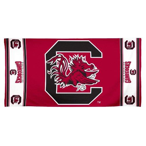 (NCAA South Carolina Fighting Gamecocks 30 by 60 Fiber Reactive Beach Towel)