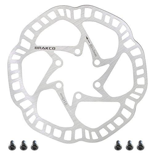 - BRAKCO One Piece Extra Light Mountain Bike Disc Brake Rotor 6 Bolts 140mm