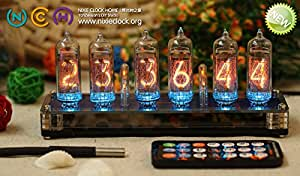 Classic Nixie Tube Clock Kit - In-14 Tubes, See Through Acry