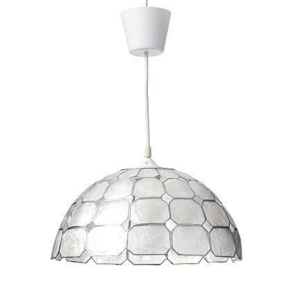 Lámpara de Techo para salón Vintage Blanca de nácar Fantasy ...