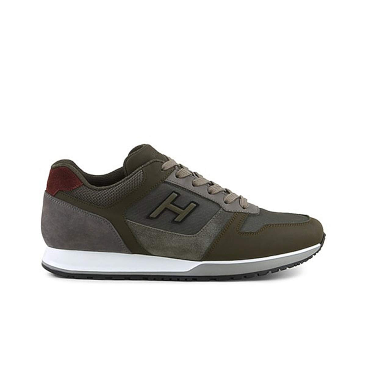Hogan scarpe da ginnastica H321 Grigio verde in Pelle