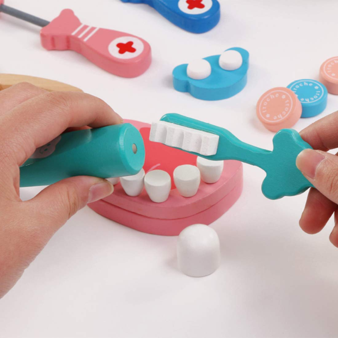 AMITAS Arzt Spielzeug Sarztkoffer Kinder Dentist Rollenspiele Spielzeug Simulierte Medizinische Kit- 24 St/ück