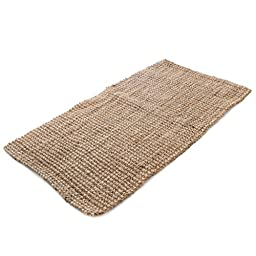 Milliard Handspun 3\' x 5\' Natural Area Jute Rug, Thick and Sturdy, Beautiful look and Matches all Color Schemes, Environmentally Friendly