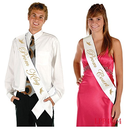 Coolfm Prom King and Prom Queen Satin Sash Prom Sashes School party/Graduation Party (Prom King and Prom Queen) (Prom King and Prom Queen)