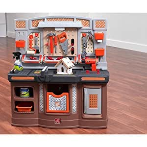 Amazon Com Step 2 Home Depot Big Builders Pro Workshop Toys Amp Games