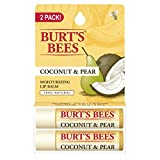 Burt's Bees 100% Natural Moisturizing Lip Balm, Coconut & Pear, 2 Count