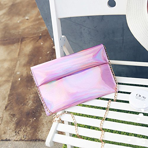 Novias Boutique - Cartera de mano para mujer rosa rosa talla única rosa