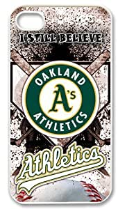 A Hot Iphone Case MLB Oakland Athletics Iphone 4 4s Case Cover A Good Market Iphone Case