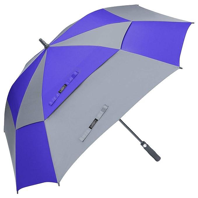 G4free Paraguas de Golf Extragrande con Doble toldo con ...