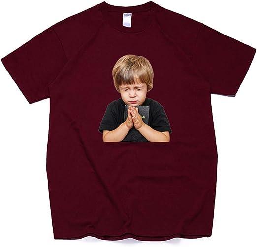 Fang Camiseta, Moda Hombre Impresión Camiseta Camiseta Algodón ...