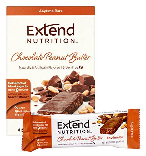Extend Bar, Chocolate Peanut Butter, 1.41 oz. Bars (Pack of 15) (Bar High Protein Snack)