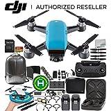 DJI Spark Portable Mini Drone Quadcopter Fly More Combo Bundles (Sky Blue)