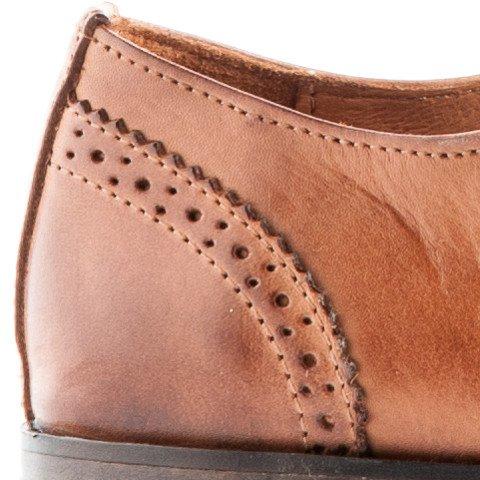 Travelin City Leather Derby Schnürhalbschuhe Herren   Business Schuhe Anzugschuhe Hochzeitschuhe   Lederschuhe Cognac 40 EU