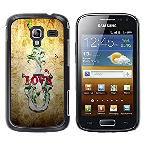 Be Good Phone Accessory // Dura Cáscara cubierta Protectora Caso Carcasa Funda de Protección para Samsung Galaxy Ace 2 I8160 Ace II X S7560M // I Love U Quote Slogan Romance Relation