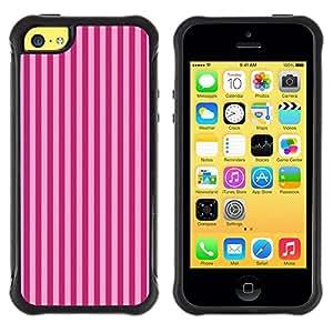Suave TPU GEL Carcasa Funda Silicona Blando Estuche Caso de protección (para) Apple Iphone 5C / CECELL Phone case / / Purple Stripes Lines Fashion Pattern /