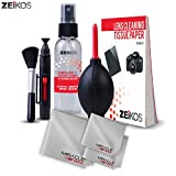 Zeikos Professional Camera Cleaning Kit, Includes Air Blower, Double Sided Lens Cleaning Pen, Lens Brush, 2-6X7 and 1-16X16 Miracle Microfiber Cloth, 50 Sheets Tissue and 2oz Lens Spray, 8 Piece
