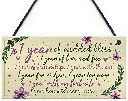 Anniversario Di Matrimonio Primo Anno.Cheyan Biglietto Di Auguri Per Il Primo Anniversario Di