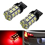iJDMTOY (2) 360° 27-SMD-5050 7440 7441 7443 7444 T20 LED Bulbs For Turn Signal Lights, Tail Lights, Brake Lights, Brilliant Red