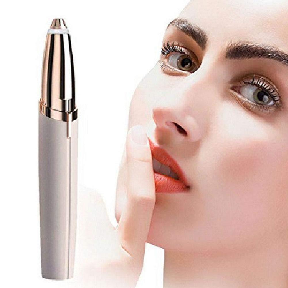 FOONEE Flawless Eyebrow Hair Remover Pen Finishing Touch Painless Eyebrow Flawless Hair Removal for Women (Pink)