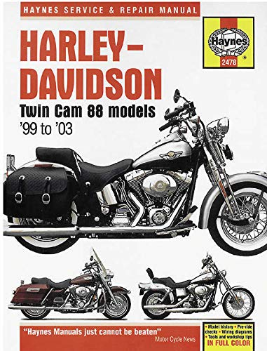 Haynes Manuals Twin Cam 88 99-08 Manual H/D Twin Cam 88 99 08 M2478 New