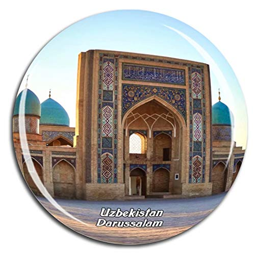 Hazrati Imam Mosque Tashkent Uzbekistan Asia Fridge Magnet 3D Crystal Glass Tourist City Travel Souvenir Collection Gift Strong Refrigerator - The Mosque Imam