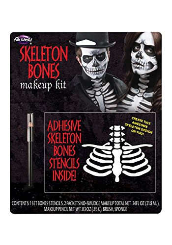 Fun World Unisex-Adults Bones Make up Kit, Multi, Standard -