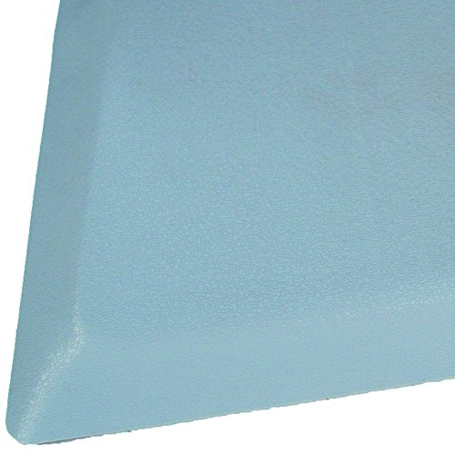 Rhino Mats BRH-3660RDSGY Rhino Hide Beauty Salon Non-Porous Vinyl Rectangle Mat, 3' Width x 5' Length x 7/8'' Thickness, Gray by Rhino Mats
