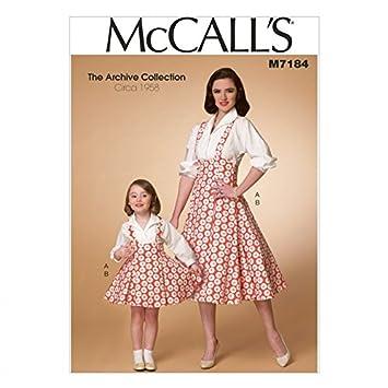 McCalls Mesdames & filles Patron de Couture 7184 style vintage pour ...