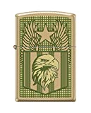Zippo Custom Design Flag & Eagle Reg Hi Pol Brass Windproof Collectible Lighter. Made in USA Limited Edition & Rare