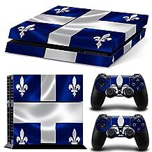 Ps4 Playstation 4 Console Skin Decal Sticker Quebec Flag + 2 Controller Skins Set