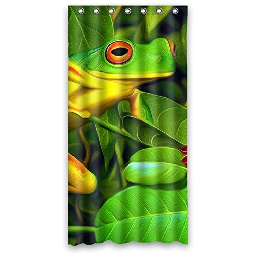 Custom Frog Design Waterproof Polyester Fabric Bathroom Show