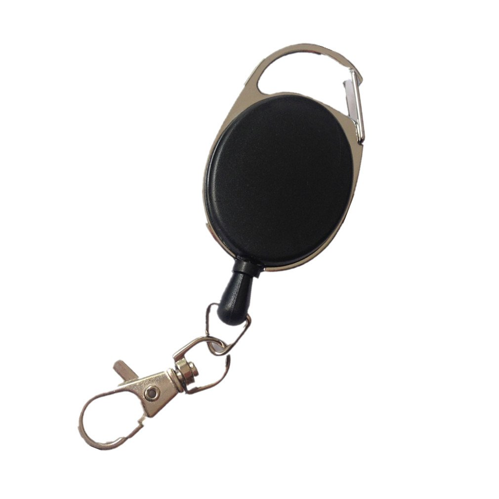 Demarkt ID yo-yo Key Reel and ID Card Reel Keyring of Be Hold with Extra Strong Spring and Tear Resistant Line Schwarz