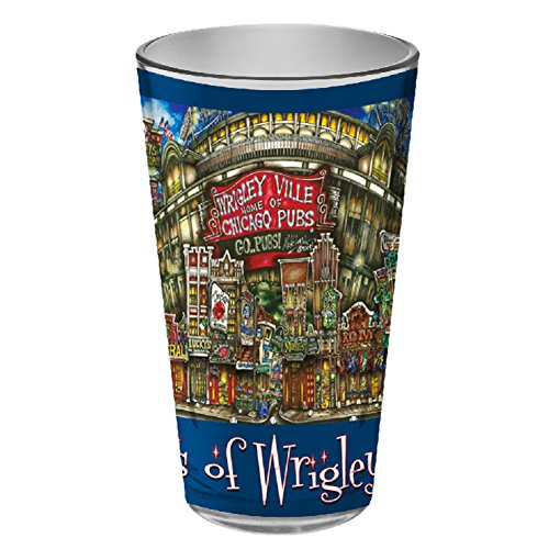 pubsOf Wrigleyville, Chicago Pint Glass set - Store Glasses Chicago
