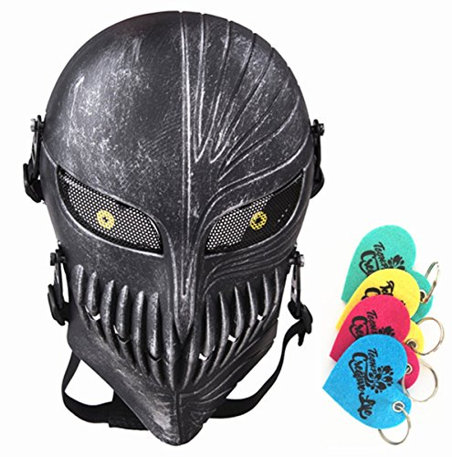 Tech-p Death Skull Face Mask - Protective Mask Gear for Use