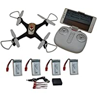 Blomiky Syma X15W FPV RC Quadcopter Drone with WIFI Camera Altitude Hold Healess Remote Control Aircraft Toy Tor Kids Extra 3 Battery X15W Black