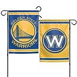 WinCraft NBA Golden State Warriors Garden Flag 12x18, 2 Sided, Team Colors