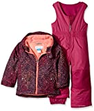 Columbia Little Girls' Frosty Slope Set, Deep Blush Snow Splatter, 3T