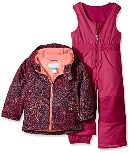 Columbia Girls' Little Frosty Slope Set, Deep Blush Snow Splatter, X-Small by Columbia