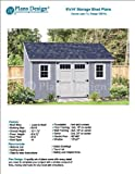 6' x 14' Deluxe Lean-To Utility Garden Shed Plans Design # D0614L, Material List and Step By Step Included