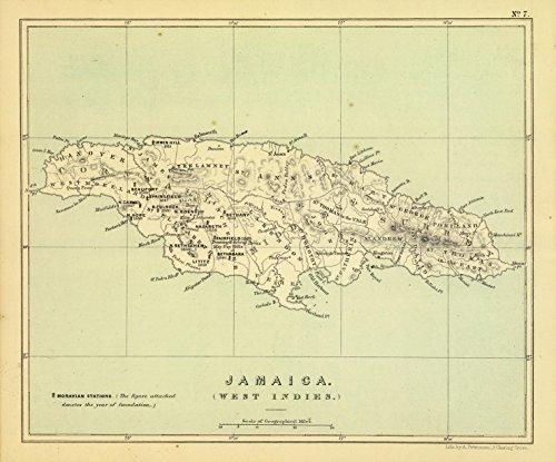 Map Poster - Jamaica. - 24