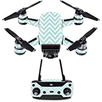 Skin for DJI Spark Mini Drone Combo - Aqua Chevron| MightySkins Protective, Durable, and Unique Vinyl Decal wrap cover | Easy To Apply, Remove, and Change Styles | Made in the USA