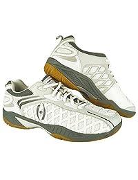 Harrow Vortex Men's Indoor Court Shoe (White/Grey) (8)