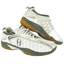 Harrow Vortex Men\'s Indoor Court Shoe (White/Grey) (11.5)