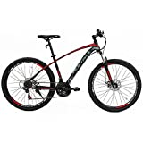 Uenjoy Murtisol 27.5″ Mountain Bike 21 Speeds Bicycle Disc Brake Steel Frame Red Black Review