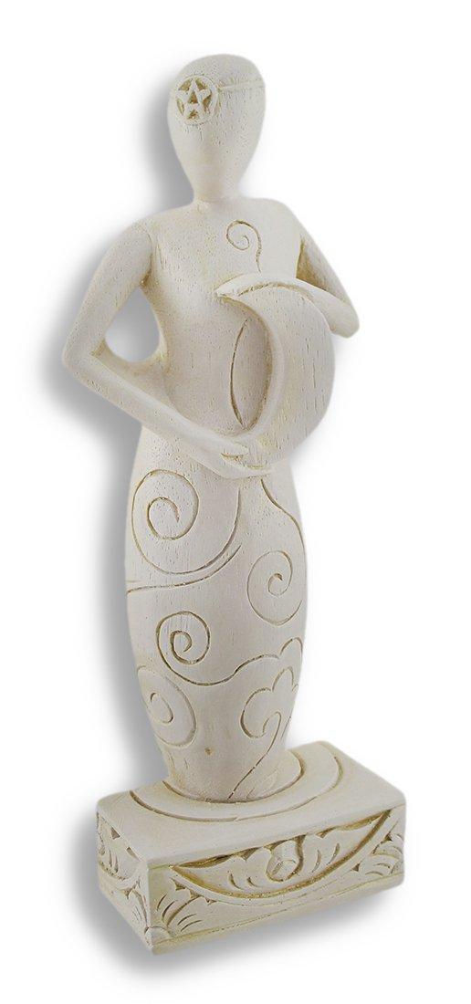 Things2Die4 Gypsum Cement Moon Goddess Maiden Statuette Figurine Pagan