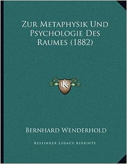 Book Zur Metaphysik Und Psychologie Des Raumes (1882)